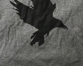 Men's Raven Tee Long Sleeve - Large - Gray