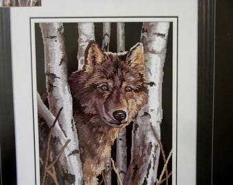 WOLF VISION Dimensions 39021 No Count Cross Stitch Kit
