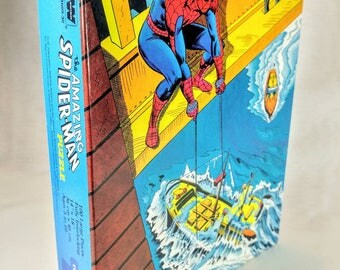 NOS 1982 Marvel Spider-Man 100 Piece Puzzle Large Pieces NIB New Old Stock Excellent Condition Ref 19086