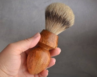 Shaving Brush Ready To Ship Silver Tip Badger Hair Shave Brush by Symmetrical Pottery