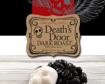 "DARK ROAST COFFEE is sure to be on any ""coffee lovers"" wish list - DemBones Sugar Skull Gifts ""Coffee Gift"" -  Whole Bean Coffee -"