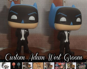 Adam West Batman Groom - Custom Funko pop toy