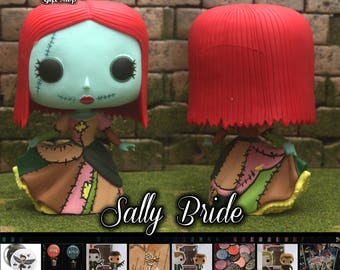 NBC Sally Wedding Bride - Custom Funko pop toy
