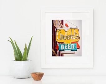 Arnold's Tavern Neon Beer Sign   Neon Sign Art   Home Bar Decor   Liquor Sign   Nebraska Art   Mid Century Art   Lincoln Nebraska