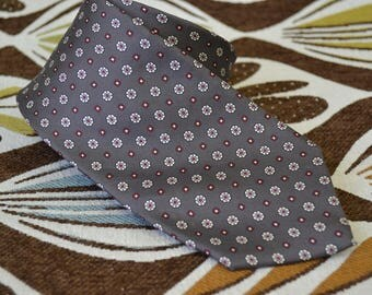1980s Liberty Gray Silk Necktie