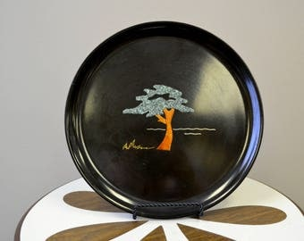 1970s Couroc Inlaid Tree Tray