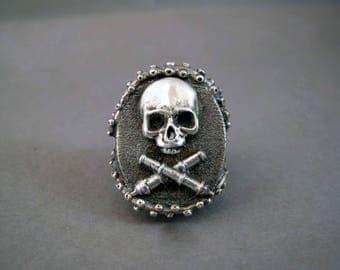 Octopus skull ring