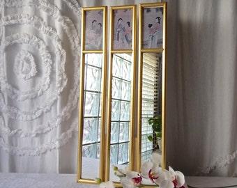 Rhinestone Wall Mirror vintage vanity mirror | etsy