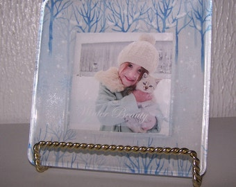 Photo plate. Keepsake plate. Custom plate. Gift idea. Personalized gift. Decorative plate. Photo on glass. Family picture. Baby announcement