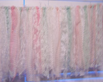 Shabby Banner - Shabby Garland - Photo Shoot Banner - Pink - Mint - White - Shabby Chic Banner - Lace Banner - Lace Garland - Baner
