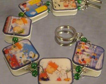 Charlie Brown Christmas Bracelet - Peanuts Jewelry - Snoopy Jewellery