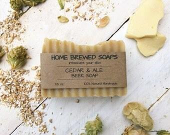 Beer Soap, Handcrafted Soap, Homemade Soap, Beer Lovers, Gift for Men, Cedar & Ale Beer Soap, Man Soap, Beer Gift, Craft Beer Soap, Soap