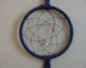 "3"" Dream Catcher , Purple Dream Catcher , Rose Quartz , Spiritual Tool , Dreaming Tool , Wall Hanging , Purple Deer Lace"