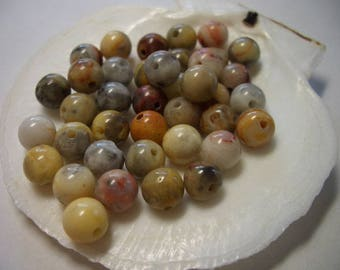 6mm natural Agate beads, crazy lace Agate, 6mm round, natural gemstone, 6mm gemstone beads, beige, brown, red, grey, natural Agate beads