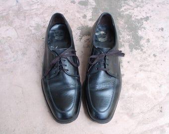 Vintage Mens Size 8d The Florsheim Shoe Black Leather Dress Shoes Tie Sneakers Classic Hipster Preppy Shoes Wedding Shoes Oxfords Brogues