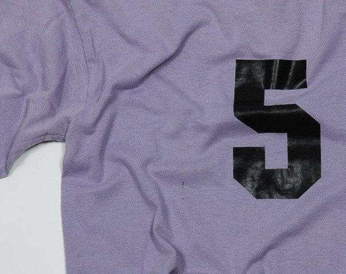Small Vintage # Five Number 5 Purple T-shirt | 5AA