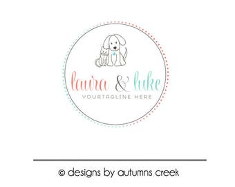 dog logo premade logo cat logo dog sitting logo dog walker logo Premade Logo photography Logo pet logo design vet logo pet sitter logo