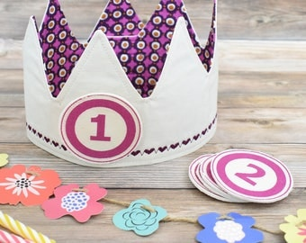 Birthday Crown Girl, First Birthday Crown, Gift for a One Year Old, Pink Birthday Crown, Party Crown, Custom Birthday Crown, 1st Birthday