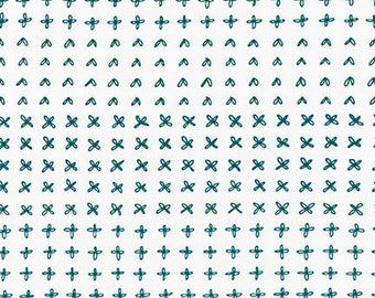 Blueberry Park Sprouting Row in Glacier, Karen Lewis Textiles, Robert Kaufman Fabrics, 100% Cotton Fabric, AWI-15752-217 GLACIER
