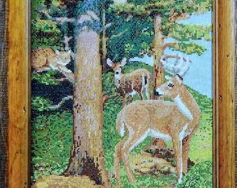 Cross Stitch Pattern | INTO THE WOODS | Barbara Sestok | Deer | Doe | Buck | Counted Cross Stitch Pattern | fam