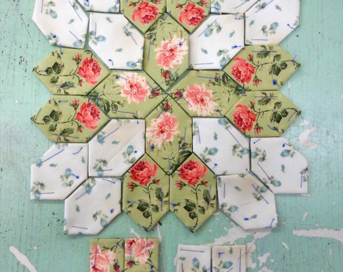 Lucy Boston Patchwork of the Crosses summer cottage block kit #19