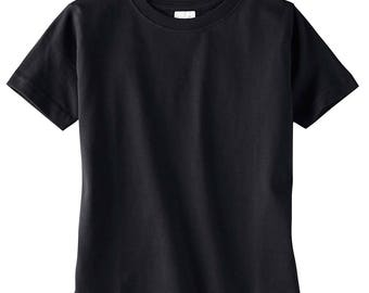 Plain Black T-shirt 4T