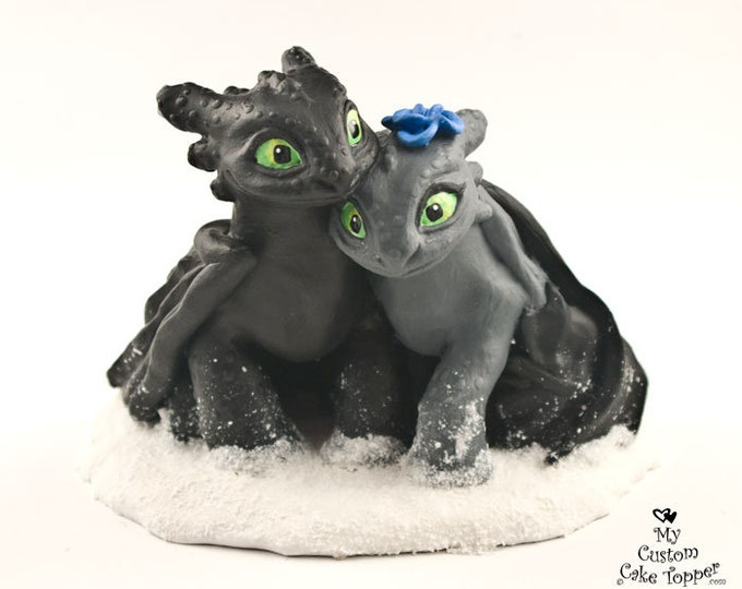 Toothless Nightfuries Wedding Cake Topper
