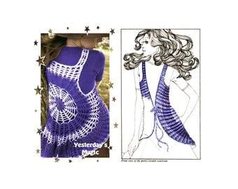 Instant Download PDF Crochet Pattern to make a Womens Hippy Cobweb Circular Bolero Waistcoat Gilet Vest Shrug to fit 32 to 36 inch Bust