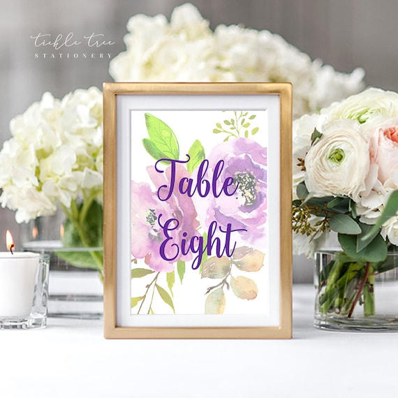 Table Numbers - Peony Love (Style 13764)