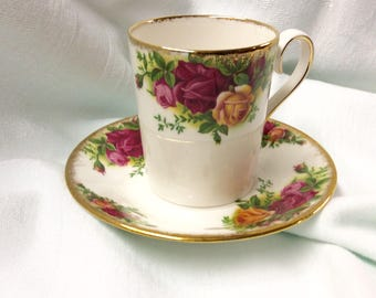 Old Country Roses Demitasse Cup and Saucer Royal Albert