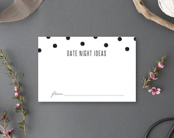 Instant Download - Date Night Ideas Card - Chelsea Collection