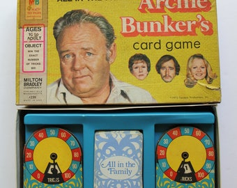 Vintage Milton Bradley All In The Family Archie Bunker's Card Game 1972