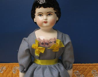 Young Girl, Repro china doll