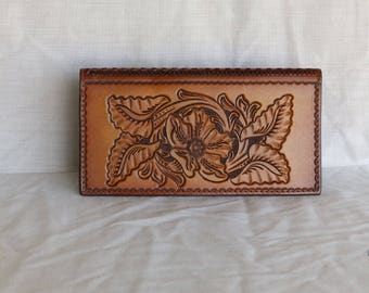 Leather Checkbook Cover HandCrafted