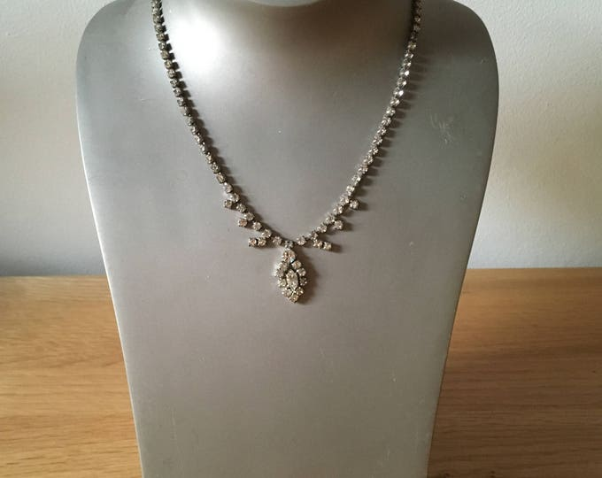 Pretty Glass Necklace with Droplets, christmas, costume jewellery, stocking filler, gift for girlfriends, gift for mum, vintage jewellery