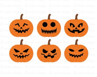 Jack-O-Lantern SVG File, Pumpkin SVG Cutting Files, Pumpkin Face SVG, Halloween Svg, Fall Svg, Silhouette Cut Files, Cricut Cut Files