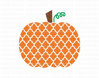 Quatrefoil Pumpkin SVG, Pumpkin SVG, Fall SVG, Thanksgiving Svg, Halloween Svg, Svg Files, Cricut Cut Files, Silhouette Cut Files