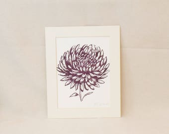 Chrysanthemum bloom print