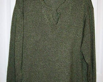 Vintage Ladies Green V Neck Sweater by Bobbie Brooks Size 18/20 or 38/40 Only 7 USD