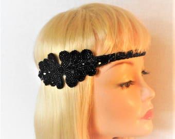 Great Gatsby Headpiece - 1920s Headpiece - Flapper Costume - Roaring 20's Headband