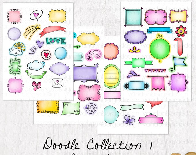 Planner Stickers- Hand-drawn Doodle Stickers - Perfect for all planners!