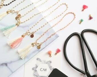 Bracelet Miyuki tubes // Miyuki & tassel bracelet