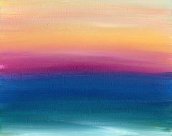 Original  Landscape Painting, beach painting, Abstract Landscape, contemporary art, Fine Art, Modern Art