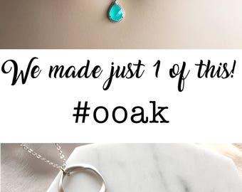 Silver Choker Turquoise Necklace, Blue Stone Geometric Necklace, Minimalist, Modern, Boho Chic, Work Jewelry, Aquamarine Birthstone Gift