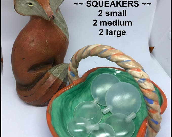Noisemaker Sampler #4 // SQUEAKERS s m l  // Baby // Cat Toys // Dog Toys // Noise Makers // Craft Supplies // Toy Making // Toys