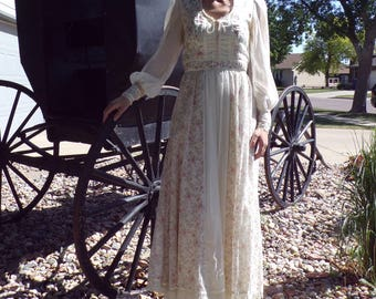 vintage GUNNE SAX JESSICA boho maxi dress gown S