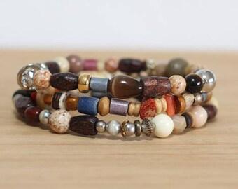 Boho Bracelet Set, Mixed Bracelet, Stackable Bracelet, Hippie Jewelry, Festival Bracelets, Metal Bracelet, Boho Bracelet, Earth Tone