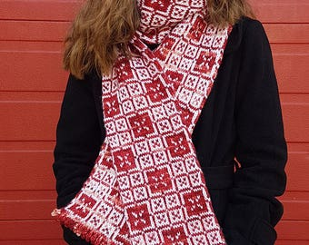 "Adult scarf (""Macclesfield"") knitting pattern (PDF)"