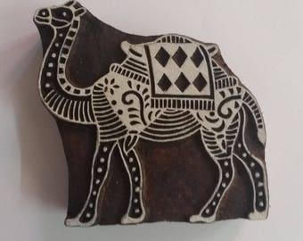 Camel Stamp - Wood Block Printing