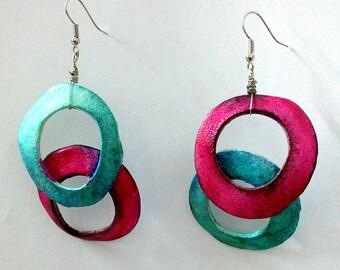 Polymer Clay earrings, one of a kind, OOAK